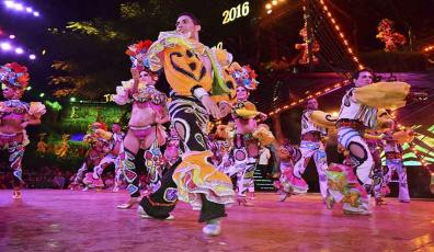 Colorful costumes embellish the show.